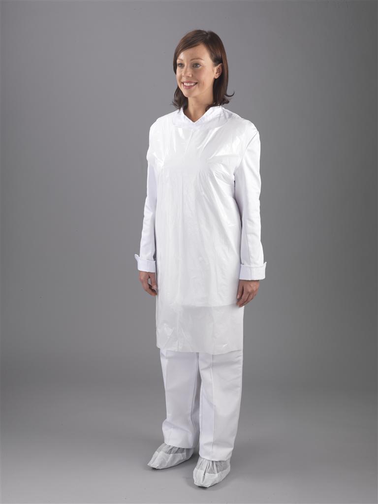 White disposable apron - Apron White Standard